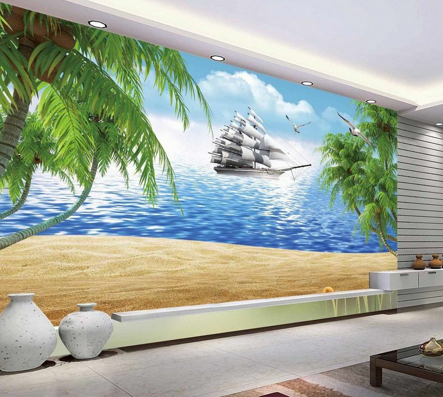 3D Mega Ocean Sailing Ship 627 Wall Paper Wall Print Decal Wall AJ Wall Paper