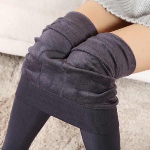 Womens Winter Black Thick Warm Soft Fleece Lined Thermal Stretchy Leggings Pants