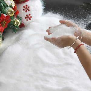 50g christmas artificial instant snowflake fake snow for Artificial snow decoration