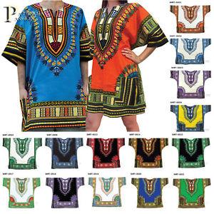 c8fe5228dd1 New Unisex Men Women African Dashiki Shirt Dress Tribal Plus Size M ...