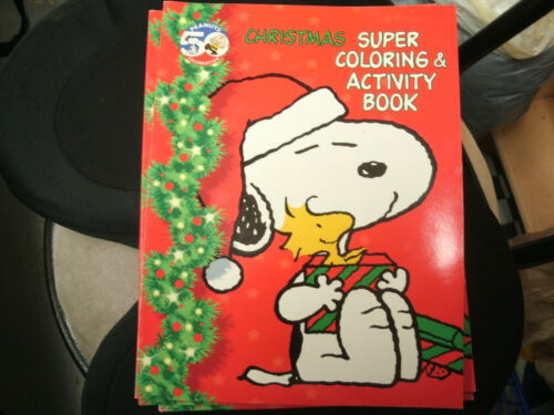 Vintage Peanuts Snoopy Coloring /& Activity Book New  Christmas 50th Celebration