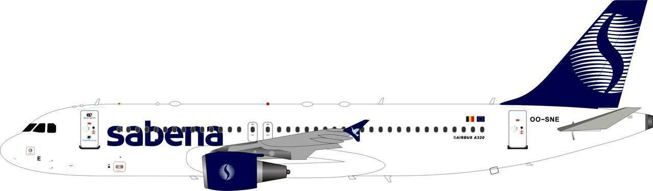 INFLIGHT 200 IF320SN001 1 200 SABENA AIRBUS A320-200 OO-END OO-END OO-END CON SUPPORTO bb38f6