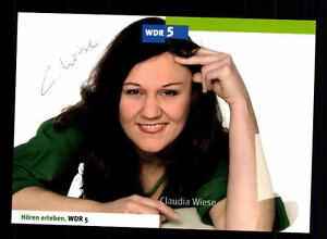 Original, Unzertifiziert Autogramme & Autographen WunderschöNen Claudia Wiese Wdr Autogrammkarte Original Signiert # Bc 61531