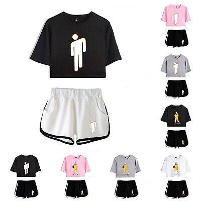 Women Billie Eilish Ocean Eye T Shirt Top Shorts Casual Suit Sport Tracksuit Set Ebay