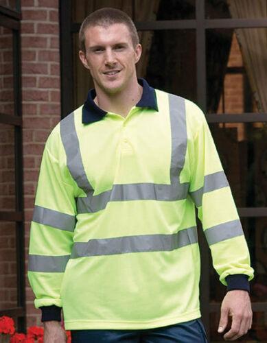 YOKO YK310 Warnschutz Polo Shirt Arbeitsshirt Freizeitshirt Langarm Berufspolo
