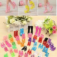 60 Pares Moda Color Estilos Múltiples Zapatos Tacones Altos Para Barbie Muñeca