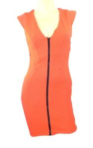 Topshop-Stretchy-Bodycon-Dress-with-Cap-Sleeves-amp-Visible-Front-Zip-Two-Colours