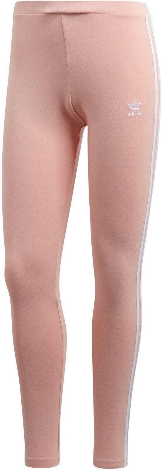Adidas Originals Women's 3 Stripes Leggings Dust Pink DV2617 d