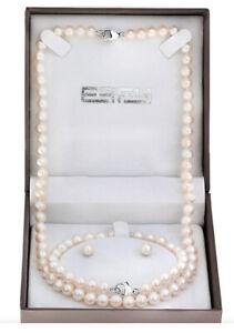 Jewellery EFFY The Bay Pearl Gift Set Necklace Bracelet Ear Rings Box Set