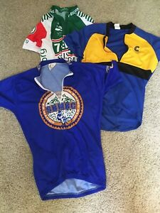 Men-s-Medium-M-Cycling-Bike-Jersey-Lot-7-11-SBMBC-Cannondale-Made-In-USA