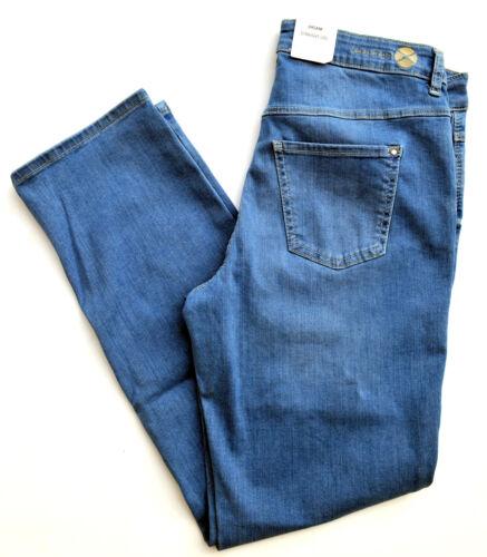 Mac Jeans DREAM Straight Fit Stretch Blu Blue Denim Tg. 40 L 30 NUOVO B