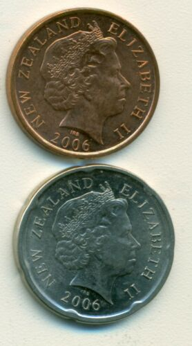 2 NICE COINS from NEW ZEALAND BOTH DATING 2006 10 /& 20 CENTS