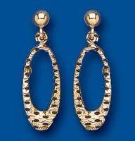 Drop Earrings Yellow Gold Drops Gold Dangle Earrings