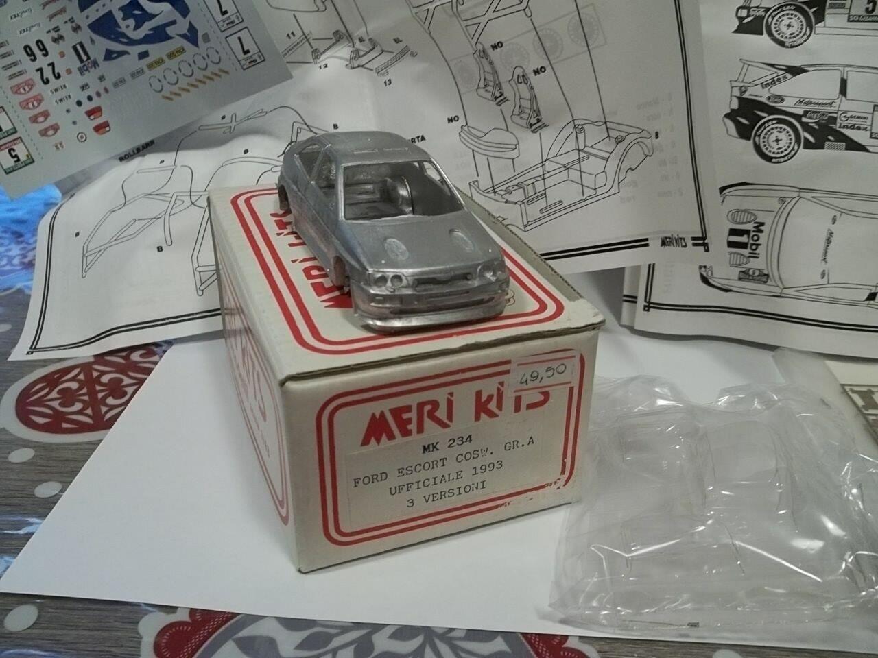 meri kit kit sc1/43 ford escorth cosworth gra ufficiale 1993 tre versioni