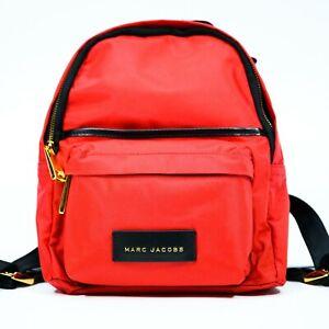 Marc-Jacobs-Apple-Red-Varsity-Lightweight-Nylon-Mini-Backpack-NEW-NWT