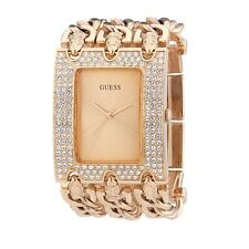 Guess Ladies Rose Gold & Crystal Heavy Metal Analog Watch (W0085L3)