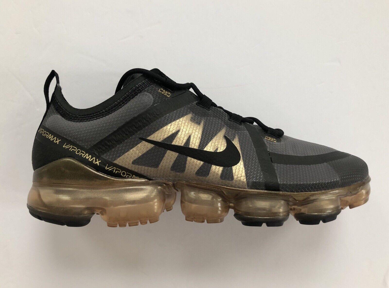 Nike Air Vapormax 2019 Black Metallic gold shoes UCF AR6631-002 Size 13
