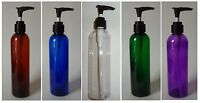8 Oz Plastic Lotion Cosmo Bottles Black Pump-choose Color+lot Size Containers