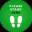 Internal Indoor Social Distancing Distance Floor Sticker stand herex 5