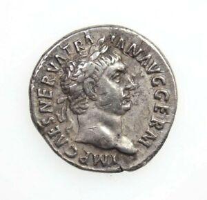Trajan, Silver Denarius, Vesta Seated with Torch, AD 98-99