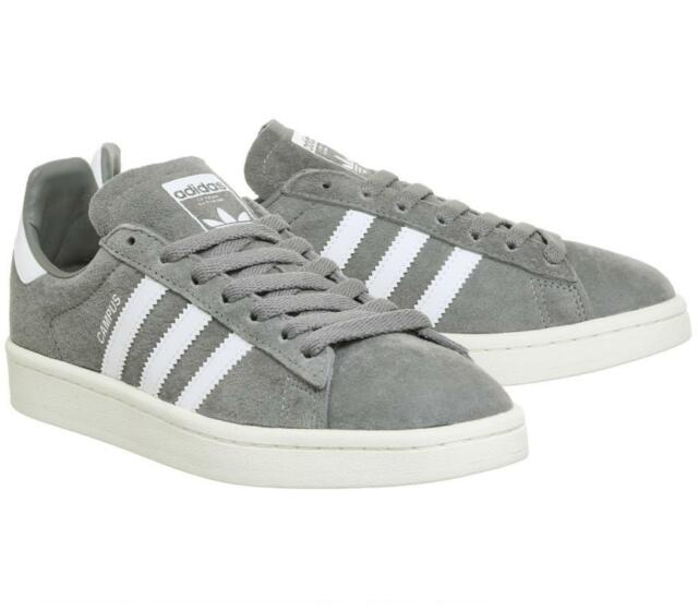 MENS ADIDAS CAMPUS SUEDE RETRO TRAINERS - UK SIZE 7 - GREY WHITE - BRAND 02dfed7f2