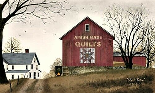 Novo País Primitivo Billy Jacobs Amish Quilt Foto Pendurar Parede Celeiro