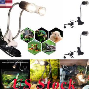 US-Reptile-Ceramic-Heat-UVB-UVA-Bulb-Lamp-Holder-Aquarium-Light-E27-Clip-Holder