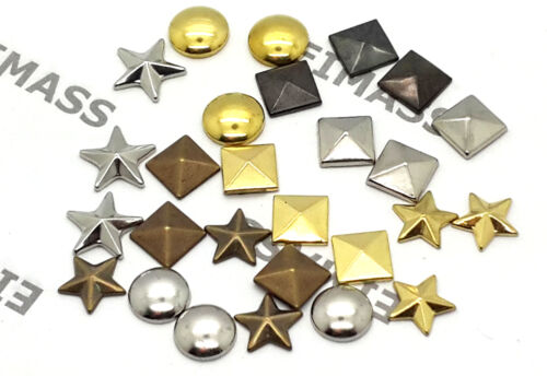 Glue on EIMASS® Copper Studs for Bags Shoes Phones Costume Craft 100 x Hot Fix