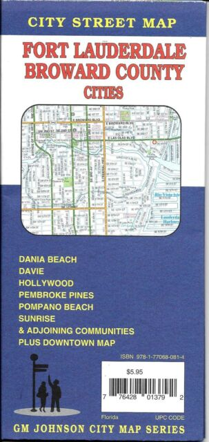 Map Of Florida Ft Lauderdale.City Street Map Of Fort Lauderdale Broward County Florida By Gmj Maps