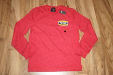 Abercrombie & Fitch A&F Herren Sweater Pullover Rot Größe S mit Print Neu