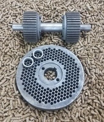 """NEW Roller Assembly and Die for Replacement or Homemade Pellet Mill 120mm 5/"""""""