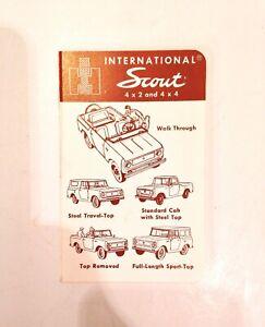 Vintage 1963-65 International Harvester IH Scout 80 Price & Options Booklet RARE