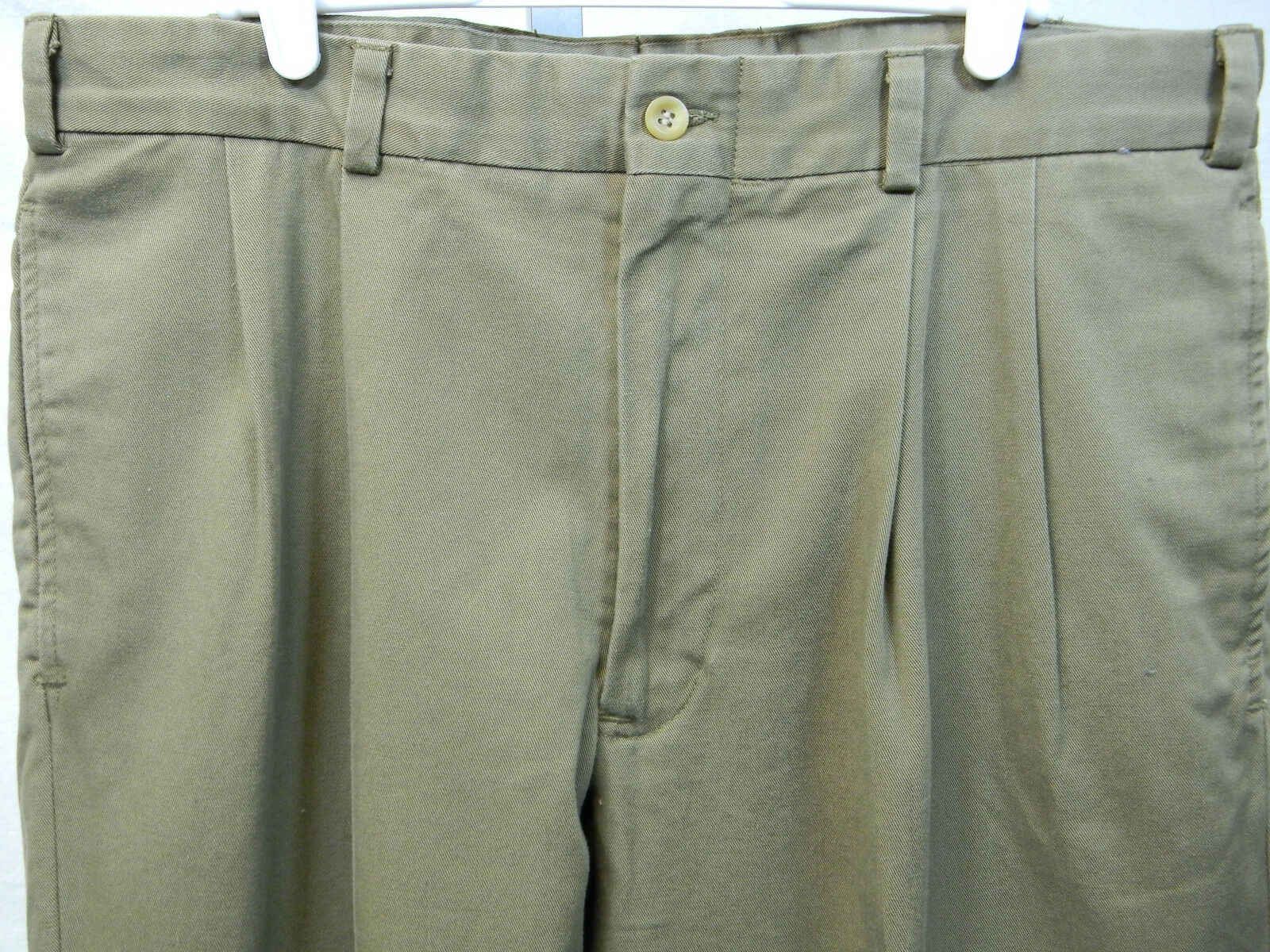 NWT Bills Khakis mushroom twill M2P pleated 100% cotton pants USA SZ 36 unhemmed