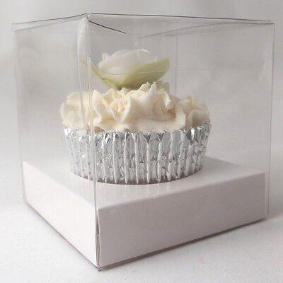 Fornitura Cancella Scatole Per Cupcake Singolo: 80mm: Opzionale Inserti Bianco-qualità Premium-mostra Il Titolo Originale
