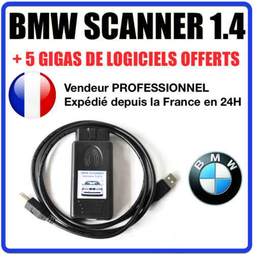 Interface Diagnostique BMW Scanner V1.4 K+DCAN K-CAN OBD2 OBDII