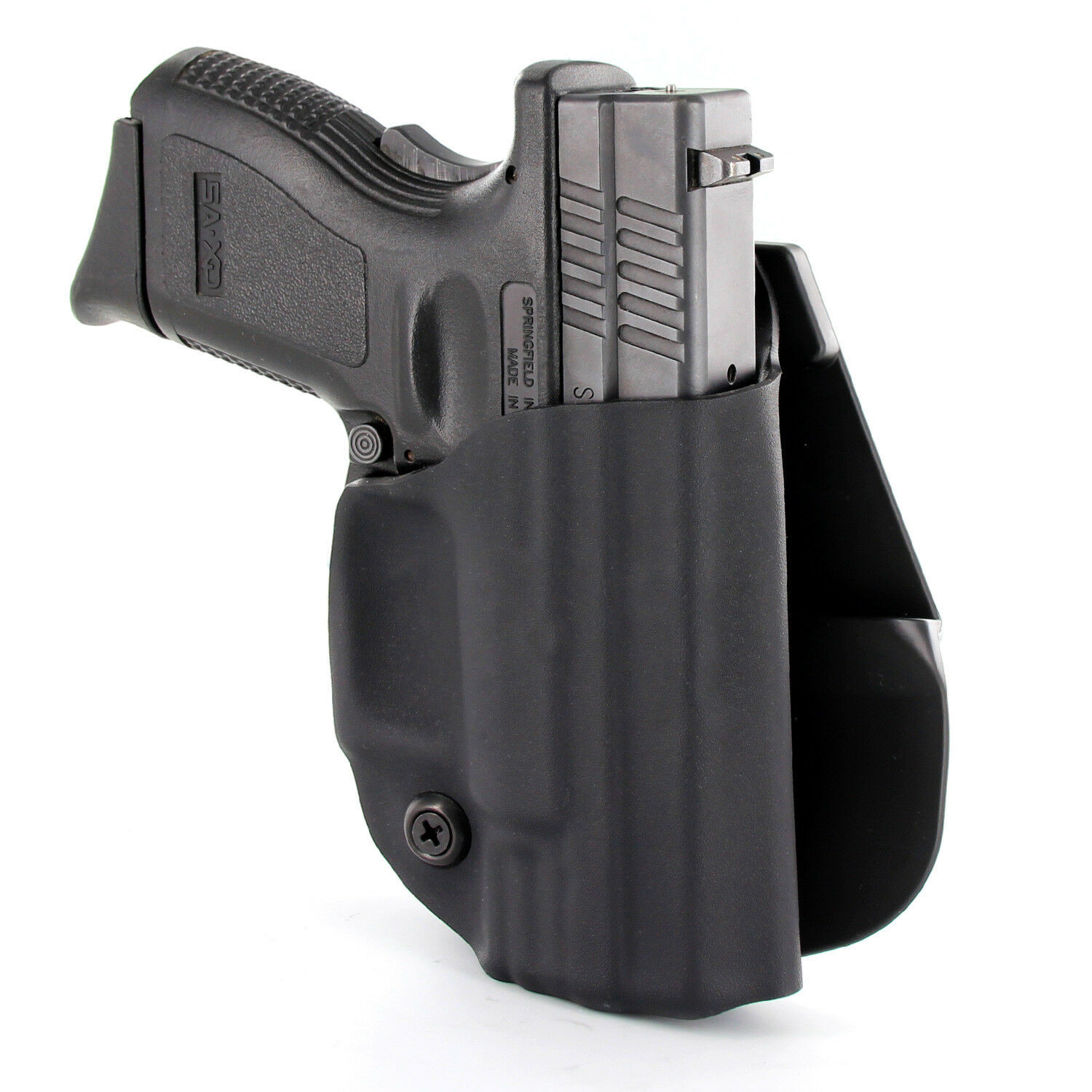 OWB KYDEX PADDLE HOLSTER for guns with Streamlight TLR-7 - MATTE BLACK