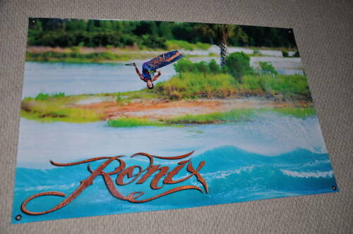 """RONIX DEAN SMITH BANNER 32/"""" 48/"""" 2 Free RONIX WAKEBOARD DECAL Stickers"""