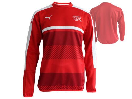 Puma Schweiz Training Sweatshirt rot WM Fanartikel Suisse Fußball Jersey S - 3XL