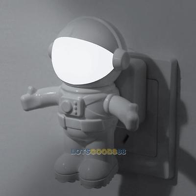 Astronaut LED Night Light Sound Light Control Lamp for Baby Kid Bedroom Bathroom
