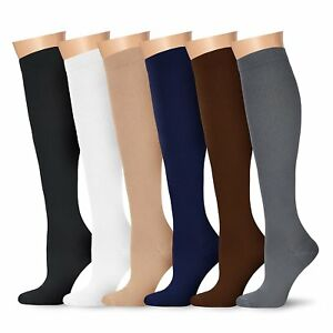 c4c43e0ba4 Image is loading Graduated-Compression-Socks-Foot-Support-Stockings -Over-Calf-