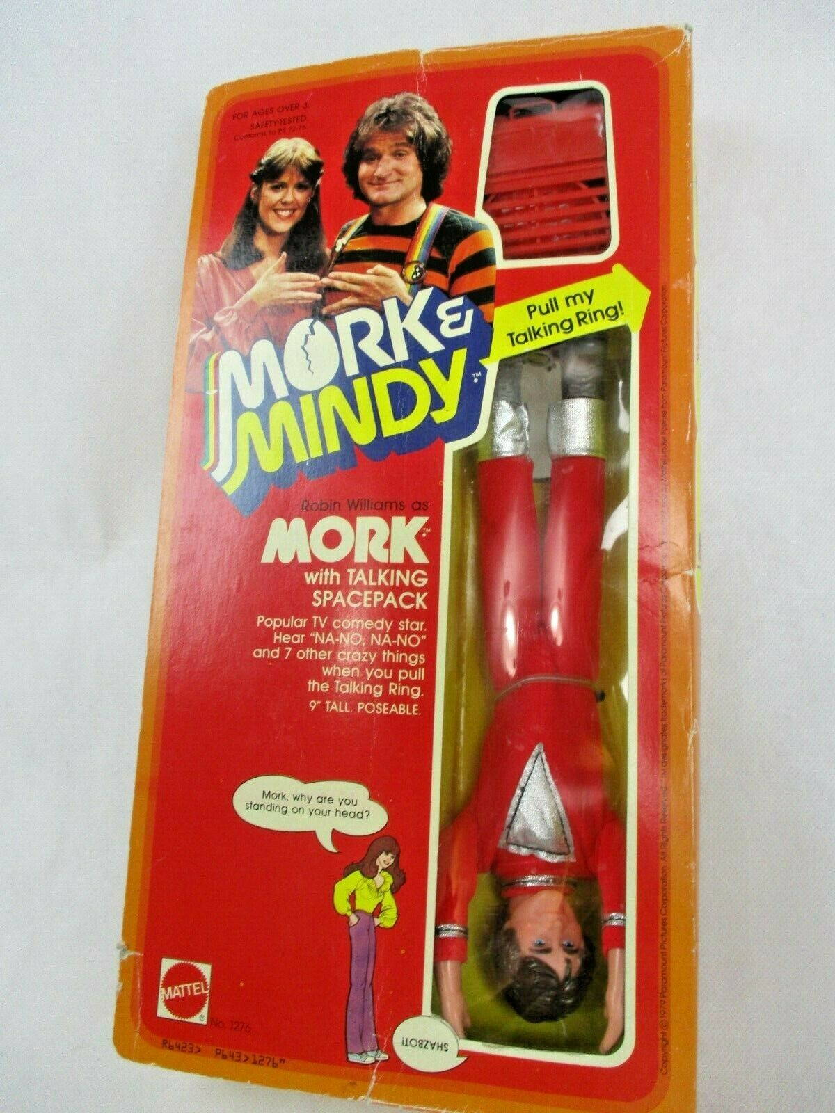 Mork & and Mindy .Mork with Talking Spacepack 1979 Mattel  1276 Figures 9