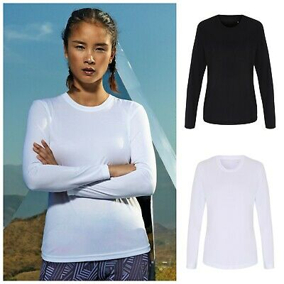 Womens Ladies Long Sleeve T Shirt Top Wickable Breathable Running Training Gym Wide Selection; Activewear