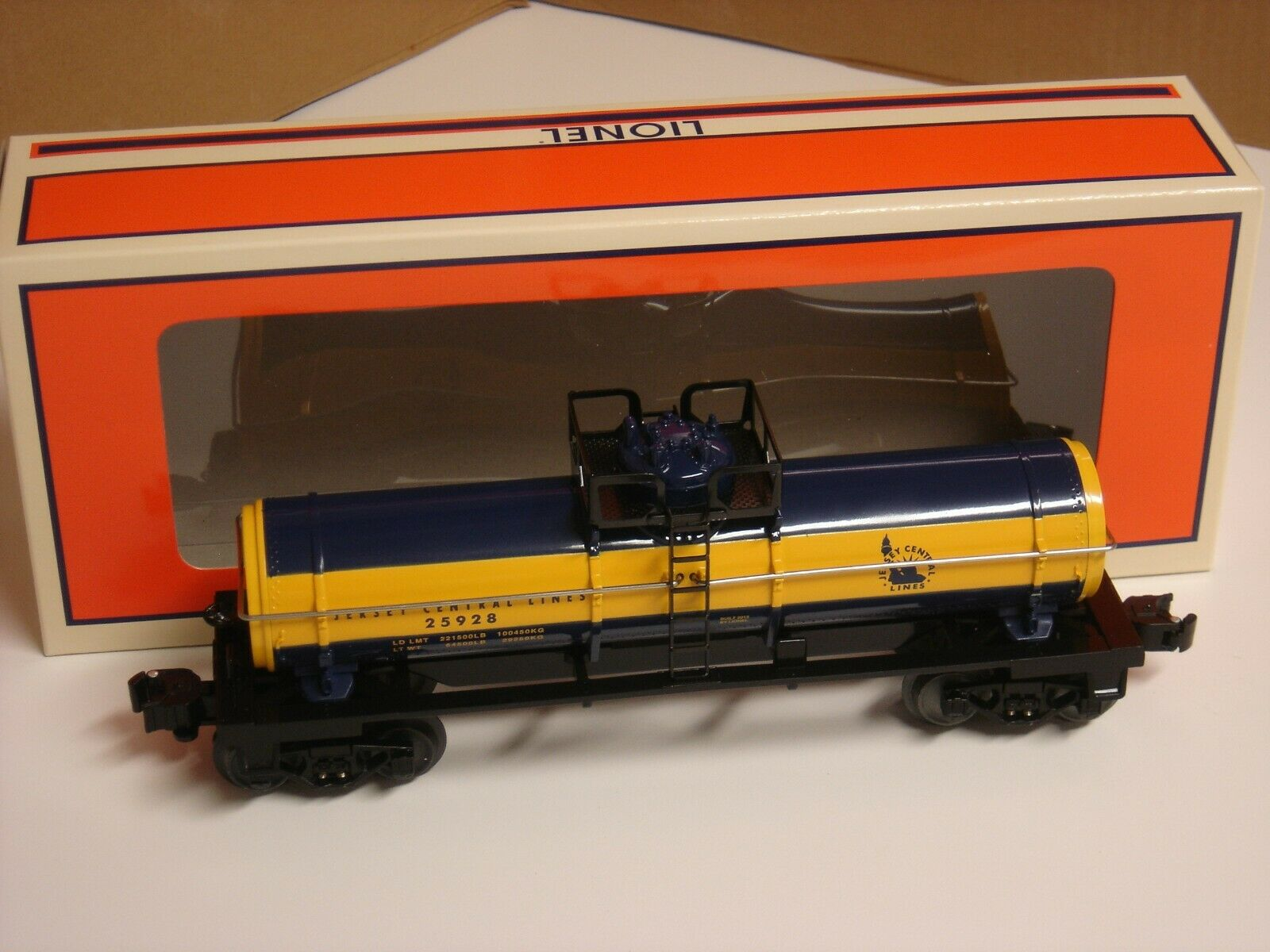 LIONEL JERSEY CENTRAL LINES SINGLE DOME TANK CAR o gauge train azul NEW 6-25928