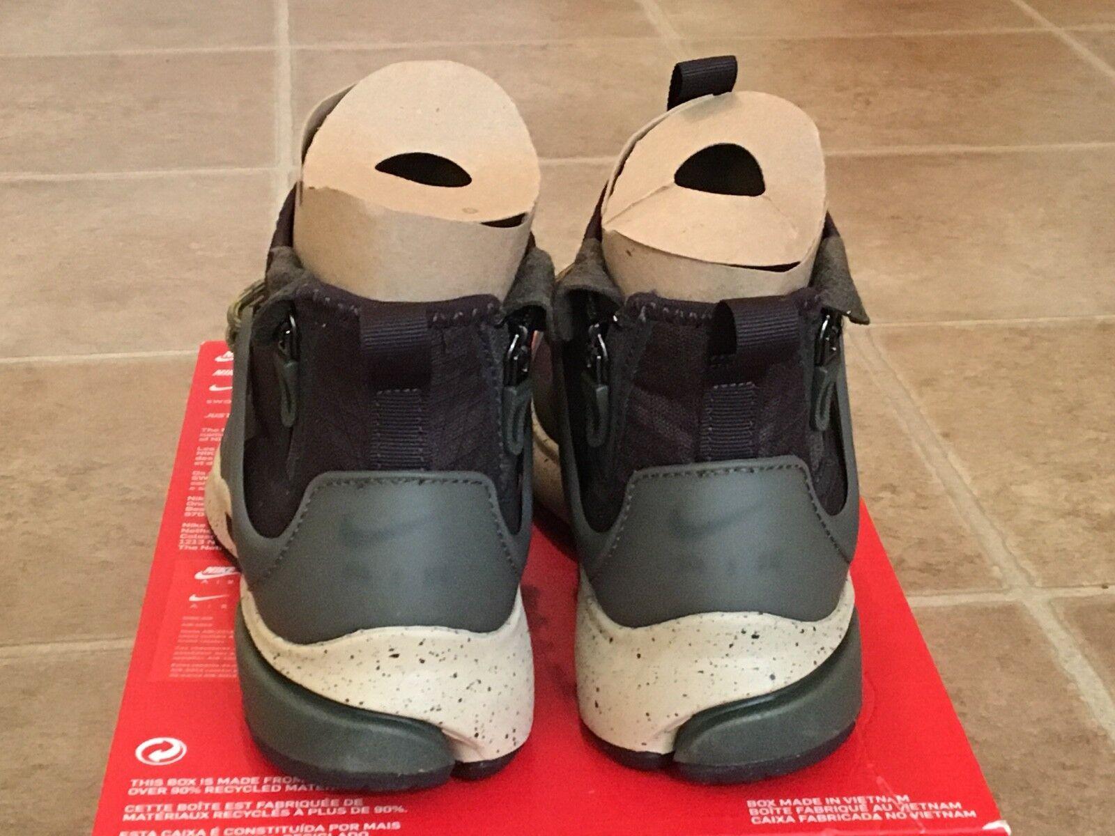 Nike Air Presto Mid Utility Utility Utility Velvet Brown Cargo Khaki 859524 200 Men's Sz. 6 f96531