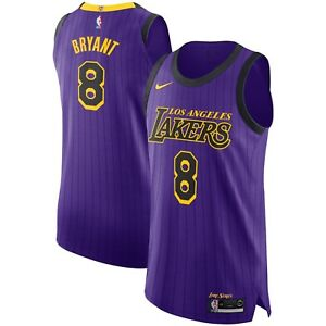 Details about New NBA Los Angeles Lakers Kobe Bryant #8 Nike City VaporKnit Authentic Jersey