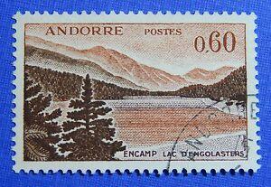 Europe Apprehensive 1965 Andorra French 60c Scott# 166 Michel # 192 Used Cs29156 Andorra