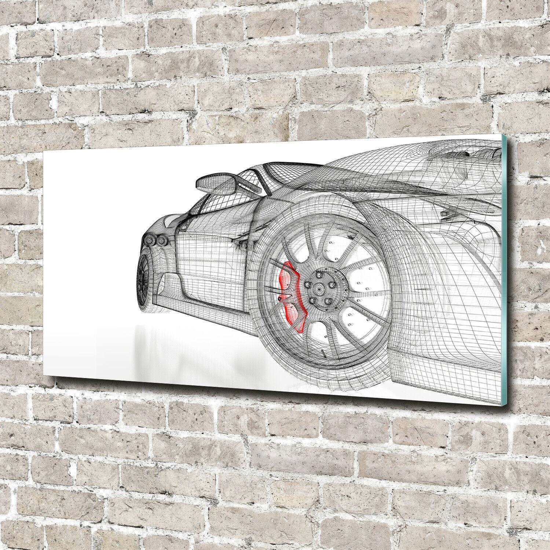 Wandbild aus Plexiglas® Druck auf Acryl 140x70 Fahrzeuge Technische Zeichnung