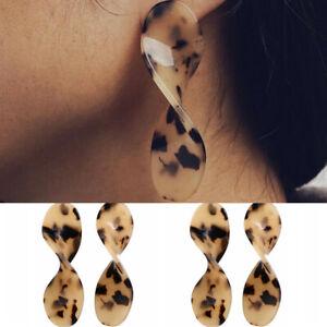 Fashion-Leopard-Acrylic-Geometric-Statement-Drop-Earrings-Dangle-Women-Jewelry