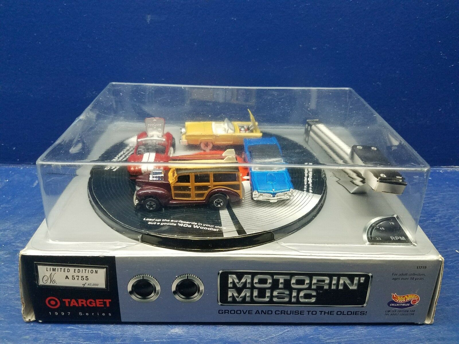 Hot Wheels Numbered Limited Edition MOTORIN' MUSIC Target Exclusive NIB 1997