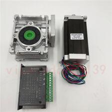 101 Worm Geared Reducer Stepper Motor Nema23 11nm Amptb6600 Driver Cnc Router Kit